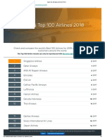 World Top 100 Airlines 2018  by SKYTRAX