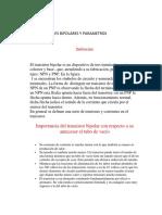 TRANSISTORES BIPOLARES Y PARAMETROS.docx