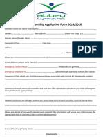 Membership Application Form 2019-2020