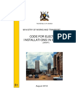 B1 Electrical Installations Guidelines Amended August 2012