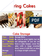 Storing cakes