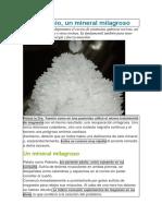 El Magnesio Mineral Milagroso. Resumen