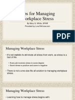 Tips for Managing Workplace Stress n