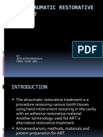 ART- ATRAUMATIC RESTORATIVE TREATMENT archu.pptx