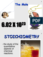 The Mole and Stoichiometry HO