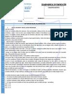 EXAMEN DE ENTRADA DE COMUNICACIÓN 6TO.doc