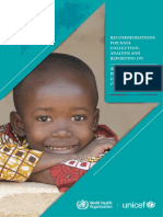 Recommendations for data collection, analysis and reporting on anthropometric indicators in children under 5 years old .