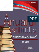 Anuarul Stiintific Nr. 4