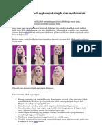 Ara Memakai Jilbab Segi Empat Simple Dan Modis Untuk Wajah Bulat