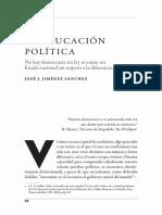 La educación política (Jiménez Sánchez)