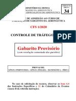 Gabarito Proviório CFS 2019