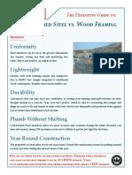 Cold Formed Steel vs. Wood