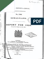 Somaliland Report 1920