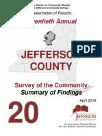 Twentieth Annual Jefferson County NY Survey of the Community
