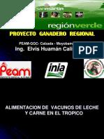 Alimentacion de Vacunos de Leche en El Tropico