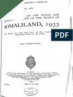 Somaliland Report 1933