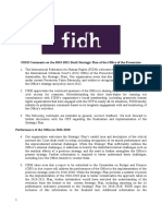 FIDH Comments to ICC OTP Strategic Plan 2019-2021 (10 June 2019)