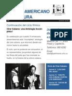 Ciclo de Cine Cubano Diciembre