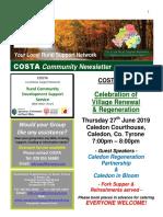 COSTA Newsletter - June 2019