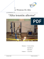 Preinforme 1-Laboratorio Alta Tension