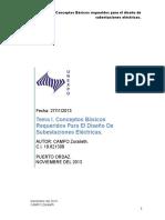 Tema I Conceptos Básicos Requeridos Para El Diseño de Subestaciones Eléctricas