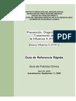 Prevención, Diagnóstico y Tratamiento de La Influenza a (H1N1)