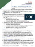 Guide Briefing Debriefing and Handovers in Emergencies