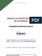 Manual de Contactos Whois de Un Dominio