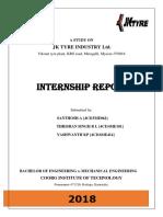 Jk Mysore Intership Report