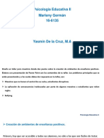 Psicología Educativa II. Tarea 5.