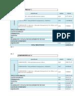 Componentes y Descripcion de Alterantivas 1 y 2