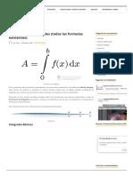 Formulario de Integrales (Todas Las Formulas Existentes)