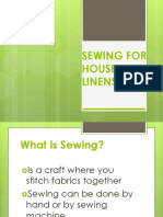 Sewing for Household Linens