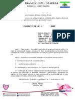 Projeto de Lei - Dispõe Sobre a Contratação Por Tempo Determinado