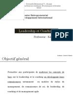 Cours de Leadership Et Coaching_Pr Kaoutar El Menzhi