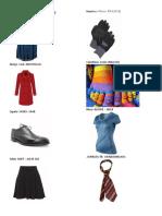 20 Prendas de Vestir en Ingles - Español - Qeqchi