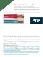 Cables y Alambres Eléctricos Explicación de Los Tipos y Sus Diferencias