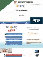 e-testing update for facilitators