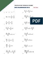 Problemas Propuestos de Situaciones Algebraicas en Q Ccesa007