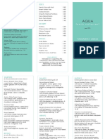 Aqua Free Menu Template Download