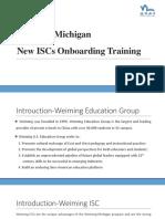 new isc training
