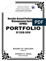 RPMS Cover Pages for KRAs and Objectives by RAQUEL S. NATAD