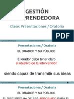 Oratoria y Presentaciones