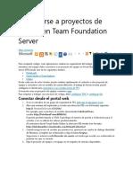 Conectarse a proyectos de equipo en Team Foundation Server.docx