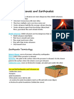 Volcanoes and Earthquakes Revision IGCSE Geography