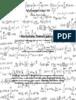 Matemáticas IV - Portafolio Primer Parcial - 170909