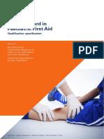 Level 3 Award in Paedriatric First Aid Spec
