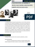 50 Años de La Sociologia Academica en El Salvador