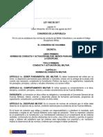 Ley 1862 DE 2017 - LEY DISCIPLINARIA DE LAS FFMM - CÓDIGO DISCIPLINARIO MILITAR - EJÉRCITO, ARMADA...