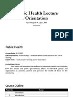 Public Health Lecture Orientation